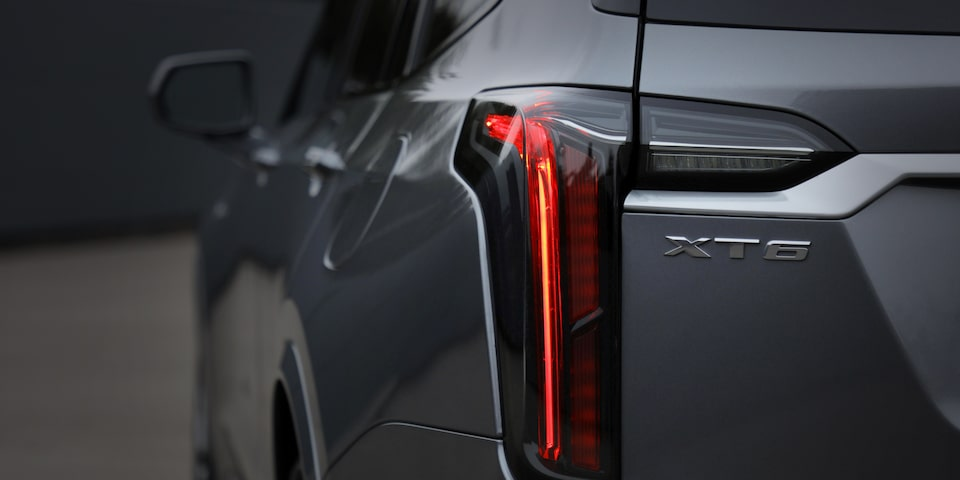 2020 Cadillac XT6 tail light and badge detail