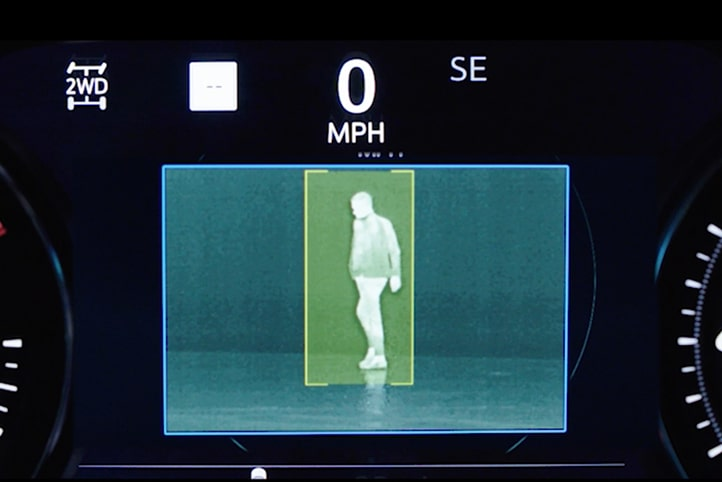 Night Vision safety feature locate and notify a person ahead in the 2020 Cadillac Russo Brothers