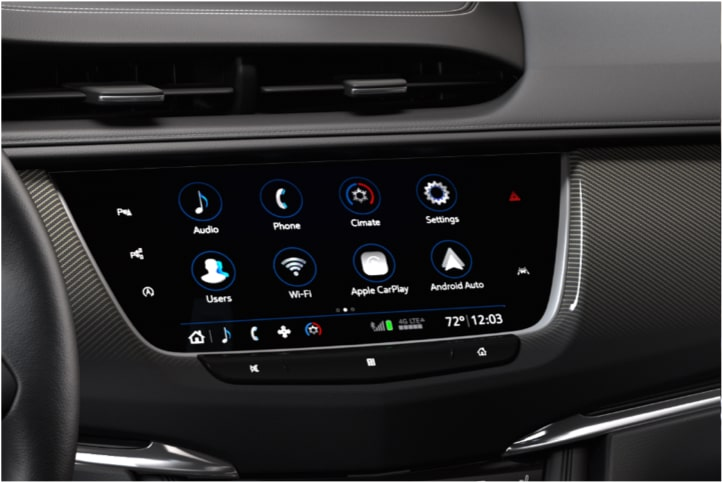 Infotainment system display in the 2020 Cadillac XT6 full-size SUV