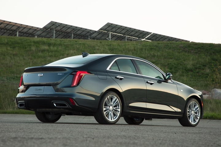 2020 Cadillac CT4 Mid-Size Sedan Rear Passengers Side Exterior View