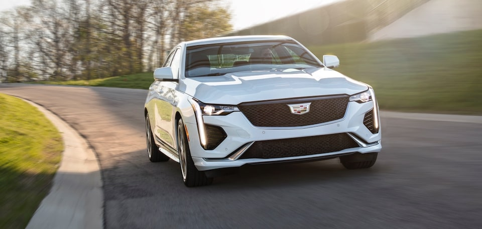 2020 Cadillac CT4 Mid-Size Sedan Exterior Passengers Side Driving Shot