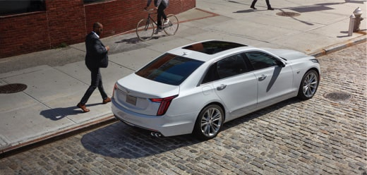 2020 Cadillac CT6 Sedan Rear Passenger Aerial View