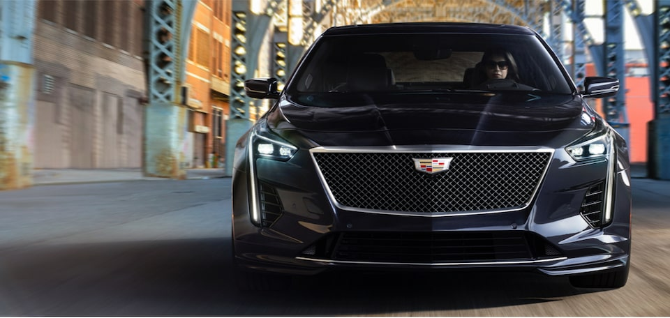 2020 Cadillac CT6-V Sport Sedan Front Grille and Headlights