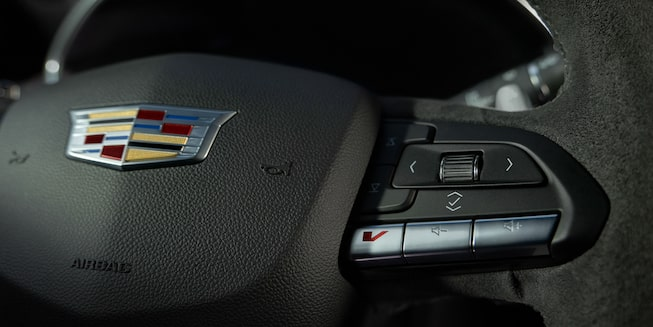 2021 Cadillac CT5 Interior Gallery: V-mode button on steering wheel