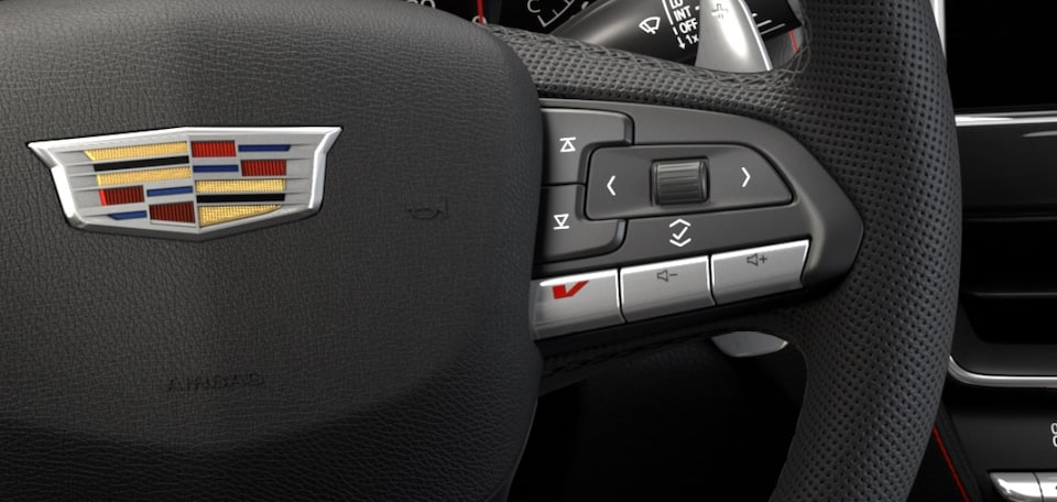 2021 Cadillac CT5-V: V-mode Button on Steering Wheel