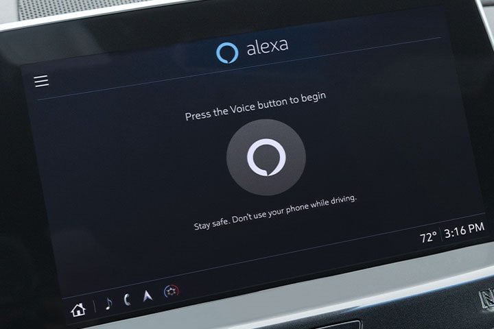 2021 Cadillac CT5: Infotainment Screen with Alexa Content