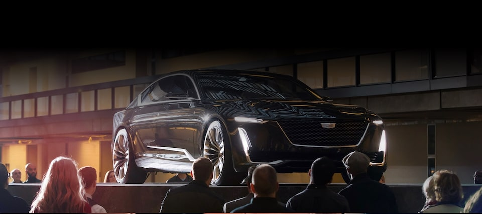 Cadillac Concept Vehicles: Concept Vehicle on Platform on Display