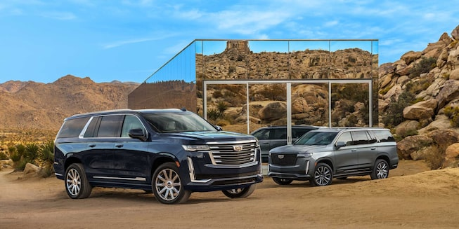 2021 Cadillac Escalade Exterior Photo: two escalade side profile