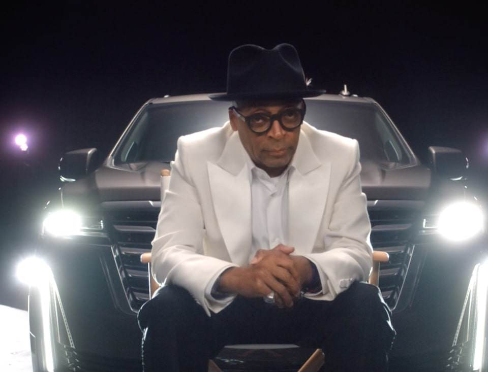 Spike Lee with the 2021 Escalade Luxury Full-Size SUV