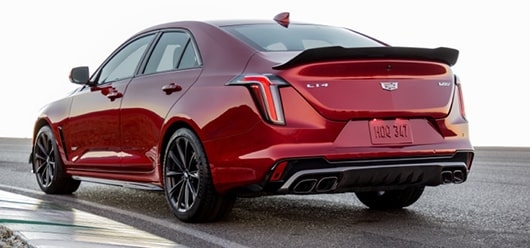Red CT4-V Blackwing Performance Driver Side Rear View Exterior
