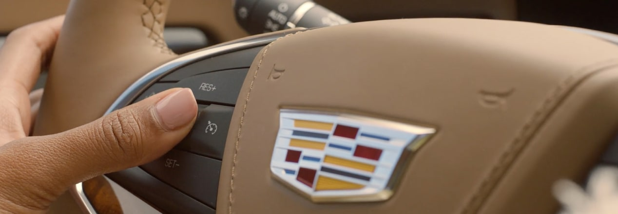 Cadillac: Super Cruise button on steering wheel